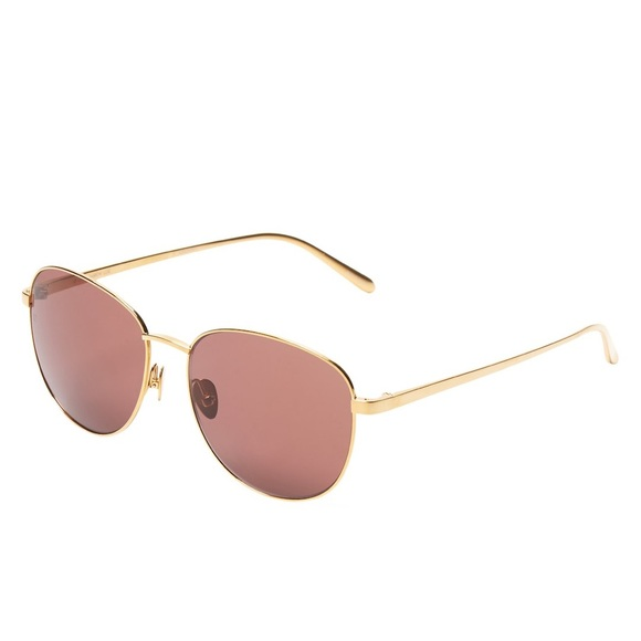 15b11b429fd4 Linda Farrow Luxe Gold plated Sunglasses in Box